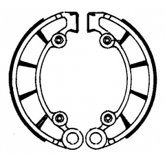 Būgninių stabdžių trinkelės FERODO 225129041