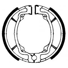 Būgninių stabdžių trinkelės FERODO 225129022