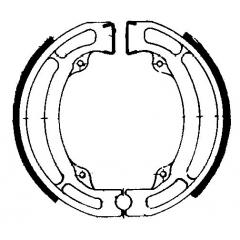 Būgninių stabdžių trinkelės FERODO 225129023