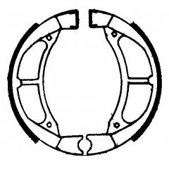 Būgninių stabdžių trinkelės FERODO 225129039