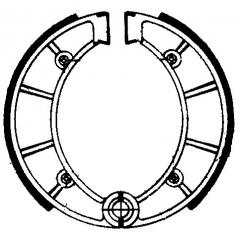 Būgninių stabdžių trinkelės FERODO 225129198