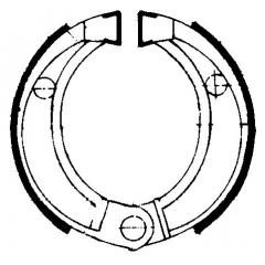 Būgninių stabdžių trinkelės FERODO 225129056