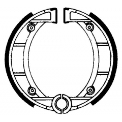 Būgninių stabdžių trinkelės FERODO 225129135