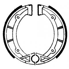 Būgninių stabdžių trinkelės FERODO 225129194