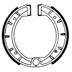 Būgninių stabdžių trinkelės FERODO 225129108