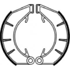 Būgninių stabdžių trinkelės FERODO 225129220