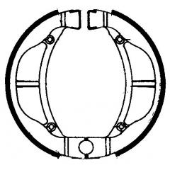 Būgninių stabdžių trinkelės FERODO 225129101