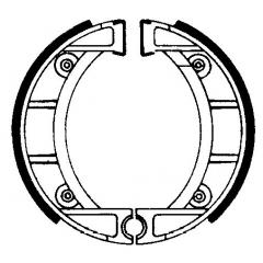 Būgninių stabdžių trinkelės FERODO 225129204