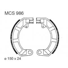 Būgninių stabdžių trinkelės LUCAS MCS 986