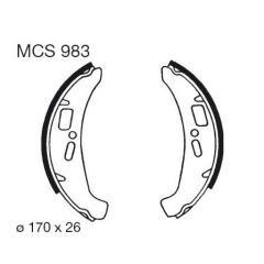 Būgninių stabdžių trinkelės LUCAS MCS 983
