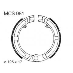 Būgninių stabdžių trinkelės LUCAS MCS 981
