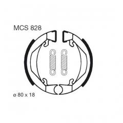 Būgninių stabdžių trinkelės LUCAS MCS 828
