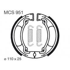 Būgninių stabdžių trinkelės LUCAS MCS 951