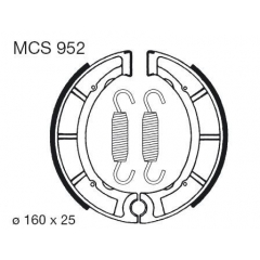 Būgninių stabdžių trinkelės LUCAS MCS 952