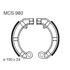 Būgninių stabdžių trinkelės LUCAS MCS 980