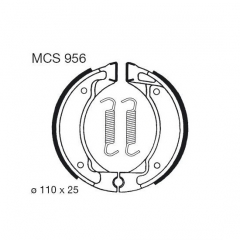 Būgninių stabdžių trinkelės LUCAS MCS 956