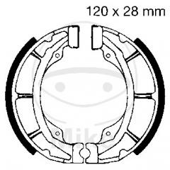 Būgninių stabdžių trinkelės EBC S617 excluding springs