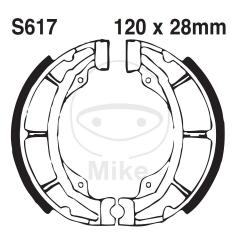 Būgninių stabdžių trinkelės EBC S617G grooved excluding springs