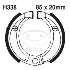 Būgninių stabdžių trinkelės EBC H338G grooved excluding springs