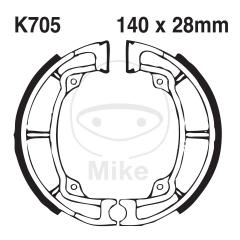 Būgninių stabdžių trinkelės EBC K705G grooved includings springs