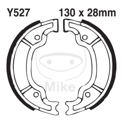 Būgninių stabdžių trinkelės EBC Y527G grooved includings springs