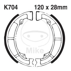 Būgninių stabdžių trinkelės EBC K704G grooved includings springs