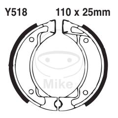 Būgninių stabdžių trinkelės EBC Y518G grooved includings springs