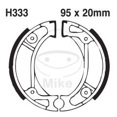 Būgninių stabdžių trinkelės EBC H333G grooved includings springs