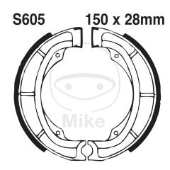 Būgninių stabdžių trinkelės EBC S605G grooved includings springs