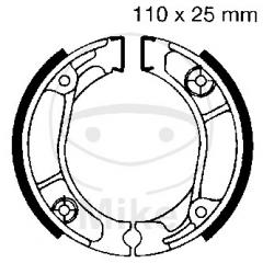 Būgninių stabdžių trinkelės EBC H304G grooved includings springs