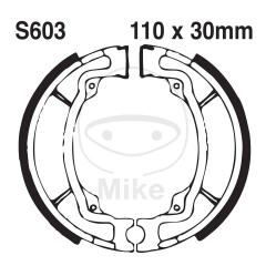 Būgninių stabdžių trinkelės EBC S603G grooved includings springs