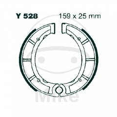 Būgninių stabdžių trinkelės EBC Y528G grooved includings springs