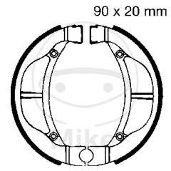 Būgninių stabdžių trinkelės EBC K715 includings springs