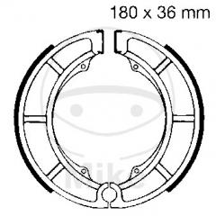 Būgninių stabdžių trinkelės EBC S626 includings springs