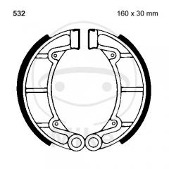Būgninių stabdžių trinkelės EBC Y532 includings springs