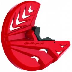 Disc & bottom fork protector POLISPORT PERFORMANCE red CR 04/black