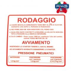 Etiketė RMS , raudonos spalvos