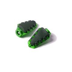 Footpegs without adapters PUIG TRAIL 7319V žalia with rubber
