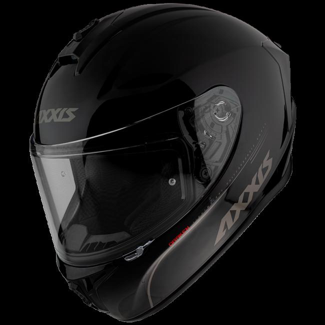 FULL FACE helmet AXXIS DRAKEN ABS solid black gloss , XL dydžio