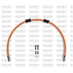 Galinės stabdžių žarnelės rinkinys Venhill POWERHOSEPLUS (1 žarnelė rinkinyje) Orange hoses, black fittings