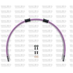 Galinės stabdžių žarnelės rinkinys Venhill POWERHOSEPLUS (1 žarnelė rinkinyje) Purple hoses, black fittings