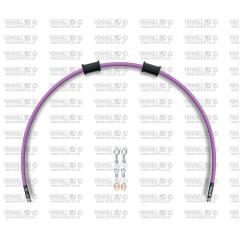 Galinės stabdžių žarnelės rinkinys Venhill POWERHOSEPLUS (1 žarnelė rinkinyje) Purple hoses, chromed fittings