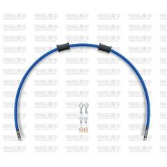 Galinės stabdžių žarnelės rinkinys Venhill POWERHOSEPLUS (1 žarnelė rinkinyje) Solid blue hoses, chromed fittings