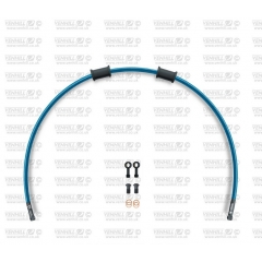 Galinės stabdžių žarnelės rinkinys Venhill POWERHOSEPLUS (1 žarnelė rinkinyje) Translucent blue hoses, black fittings