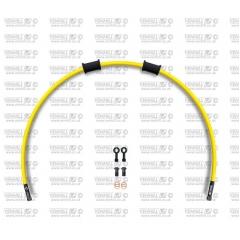 Galinės stabdžių žarnelės rinkinys Venhill POWERHOSEPLUS (1 žarnelė rinkinyje) Yellow hoses, black fittings