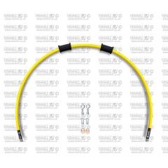 Galinės stabdžių žarnelės rinkinys Venhill POWERHOSEPLUS (1 žarnelė rinkinyje) Yellow hoses, chromed fittings
