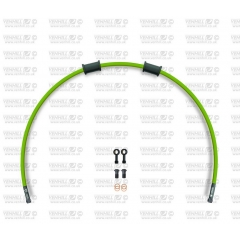 Galinės stabdžių žarnelės rinkinys Venhill POWERHOSEPLUS (1 žarnelė rinkinyje) Green hoses, black fittings