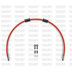 Galinės stabdžių žarnelės rinkinys Venhill POWERHOSEPLUS (1 žarnelė rinkinyje) Red hoses, black fittings