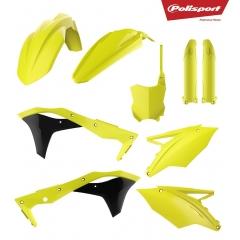 Išorinių plastmasinių detalių rinkinys POLISPORT Flo yellow
