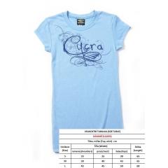 Marškinėliai be apykaklės CYCRA LADIES BLUE CAP , S dydžio